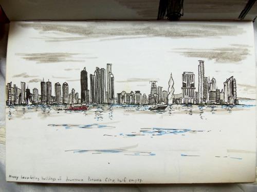 Sketch of the Panama City Skyline