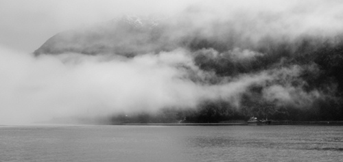 The cloudy mist in Southern Chile.