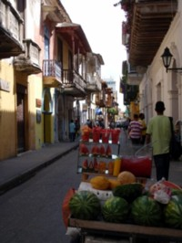 On the Streets of Cartagena