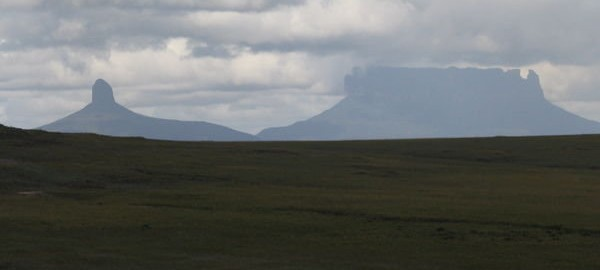 The tabletop mountains of the Gran Sabana in Venezuela.