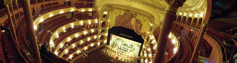 A panoramic of Teatro Colon.
