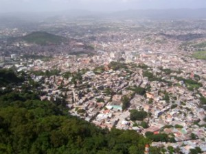 The center of Tegucigalpa, Honduras.