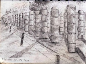Travel Drawing in Chichen Itza