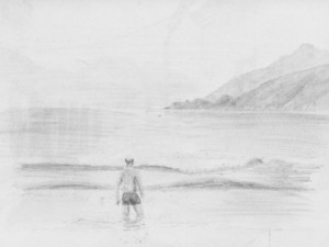 Travel Drawing of Choroni Beach