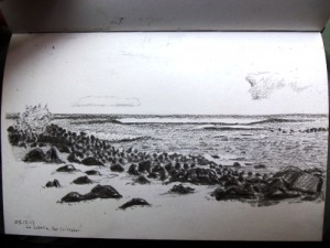 Travel Drawing in the Galapagos