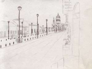 Travel Drawing in Granada