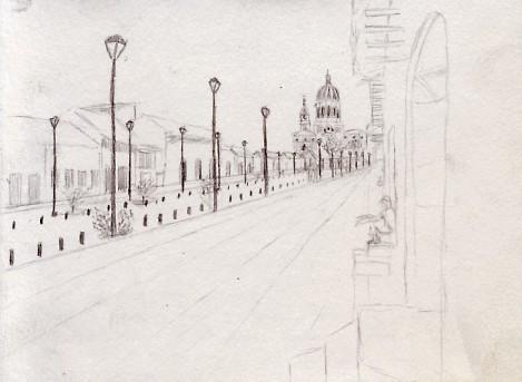 Travel sketching in Granada