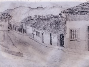 Travel Drawing in San Cristobal, Chiapas