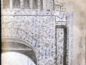 Mexico City Revolution Monument - A Travel Sketch