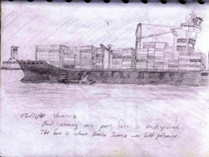 Travel Sketch of Veracruz' Port