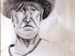 A Sketch of a Mexican Man