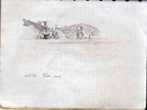 Sketching Tulum Ruins