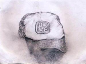 A sketch of the U cant c me hat.