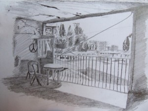Travel drawing from Valparaiso, Chile