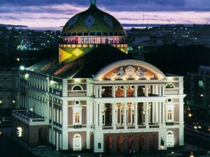 A photo of the Amazon theatre in Manaus, Brazil.