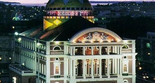 A photo of the Amazon theatre in Manaus, Brazil.