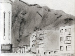 Travel drawing from Bello, Medellin, Colombia
