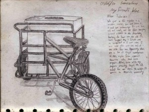 Bicycle Travel Sketch