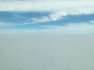 The Bolivia salt flat of Uyuni.