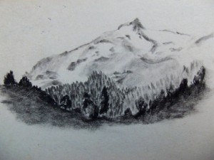 Carretera Austral, Chile, Patagonia travel drawings