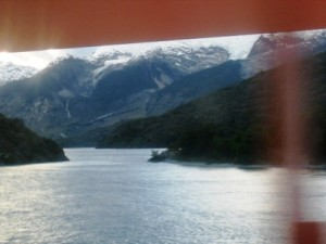 In Chilean Patagonia, there are beautiful scenes of mountains and snow.
