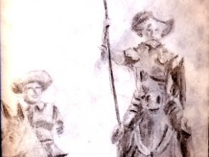Drawing Don Quixote and Sancho Panza