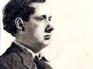 Drawing of Dylan Thomas