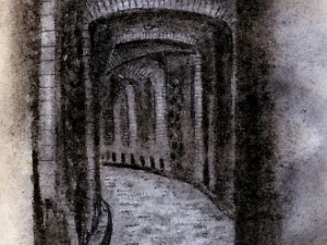 Drawing of Guanajuato Tunnels
