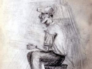 Drawing of a Mexican Man