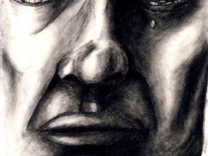 Drawing of a Crying Face