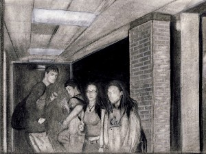 Drawing of a Group of People