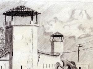 Sketch of a Spanish Fort in Granada, Nicaragua