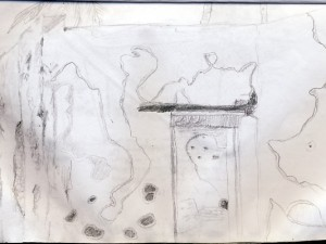 Hernan Cortez' House Sketch