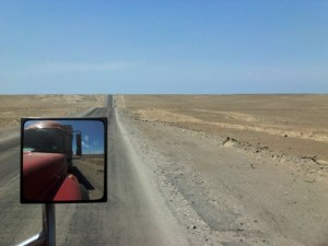 Hitchhiking with Peru truckers.