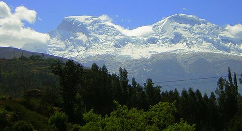 A beautiful view over magnificent Huascaran Peru.