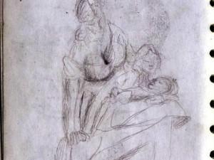 Drawing of La Maternidad Statue in Merida