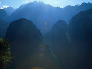 The view from Machu Picchu.