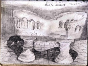 Travel Sketch of Merida, Mexico Seats