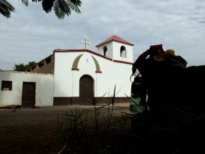 Palpa Peru, where we camped in front of this church.
