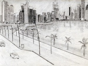 Drawing of the Panama City Skyline