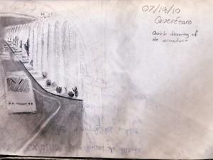Queretaro Aqueduct sletch