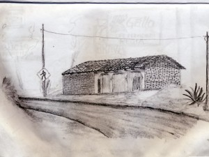 Rural Guatemala Travel Drawing