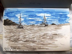 Drawing Sailboats in Panama City