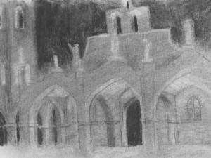 Santa Elena Monastery Drawing