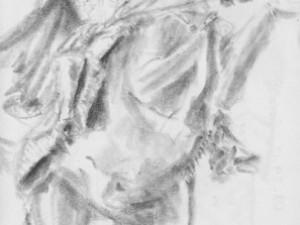 Sketching a Simon Bolívar Statue in Caracas