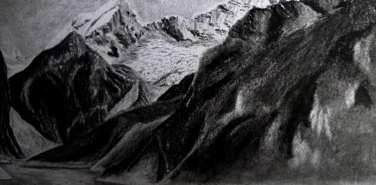 Sketching mountains in Peru