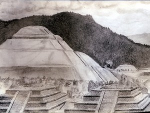 Teotihuacan Travel Sketch