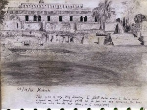 Travel Sketch of Kabah, Mexico