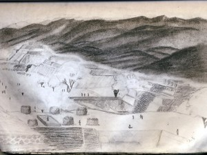 Travel Drawing of Monte Alban