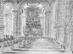 Travel Sketch of Merida's Cathedral